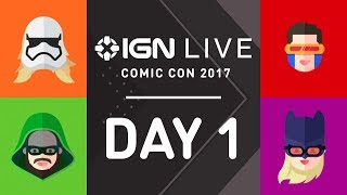 We are live from San Diego Comic-Con, bringing you live celebrity interviews, full show floor access and up to the minute news. The stream starts on 7/20 @ 3pm PT.Today's schedule below. Times and interviews are subject to change:03:00p Comic-Con 2017 Live Show Day One03:05p Kingsman Interview03:10p Marvel's Inhumans Interview03:15p Marvel Comics w/ Ryan Penagos03:20p 12 Monkeys Interview03:30p  Legion Interview03:40p  Preacher Interview03:45p Game of Thrones Expierence03:50p Funkos Exclusive03:55p Annabelle: Creation Interview04:05p Cosplay Round Up Day 104:10p Death Note Interview04:20p IGN Reacts: Super Mario Odyssey04:25p WWE Interview04:30p Teenage Mutant Ninja Turtles Comic04:35p Lego Ninjago Live Demo04:50p Fear the Walking Dead Interview04:55p Dark Horse Comics with Dustin Nelson05:00p Westworld Expierence05:05p Bright Interview05:15p Telltale Batman Interview05:20p Stranger Things Toys05:25p Mario Exclusive Toy at Entertainment Earth05:30p Marvel Inhumans Interview05:40p Legion Interview05:45p Tick Activation05:50p Netflix Castlevania Interview06:00p Death Note Interview06:05p IGN reacts: Lego Marvel Superheroes 206:10p Lucasfilm: The Last Jedi Props06:15p IT Interview06:25p IGN reacts - Xbox One X06:30p Daily Fix06:35p Crash Bandicoot Stormy Ascent Demo06:45p Kingsman Trailer06:55p Preacher InterviewSubscribe to IGN for more!https://www.youtube.com/user/ignentertainment?sub_confirmation=1------------------------------­----Follow IGN for more!------------------------------­----YOUTUBE: https://www.youtube.com/user/ignentertainment?sub_confirmation=1IGN OFFICIAL APP: http://www.ign.com/mobileFACEBOOK: https://www.facebook.com/ignTWITTER: https://twitter.com/ignINSTAGRAM: https://instagram.com/igndotcom/?hl=enWEBSITE: http://www.ign.com/GOOGLE+: https://plus.google.com/+IGN
