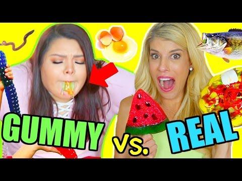 Gummy Food vs. Real Food Challenge! *GONE WRONG I ALMOST DIED*