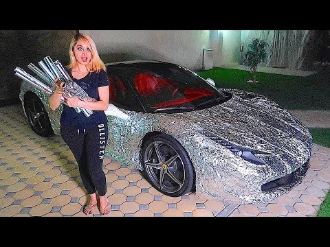 WRAPPING MY BROTHERS FERRARI *REVENGE PRANK *!!!