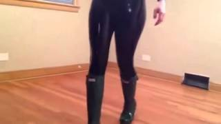 Girlfriend Dressing Latex Part 2