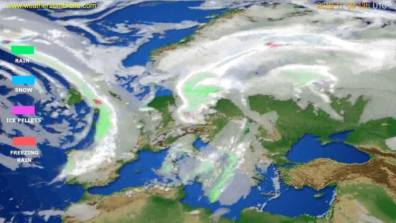 Precipitation forecast Europe // modelrun: 00h UTC 2019-11-08