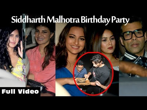 Full Video - Katrina, Jacqueline, Karan, Sonakshi & Others At Sidhrth Malhotra Birthday Bash