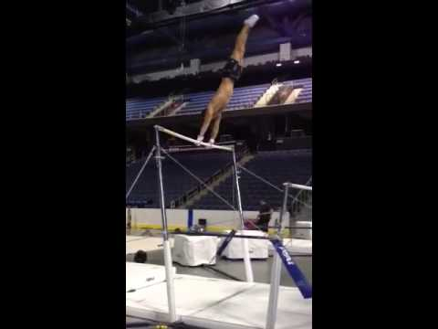 Paul Ruggeri UNEVEN BARS Routine!