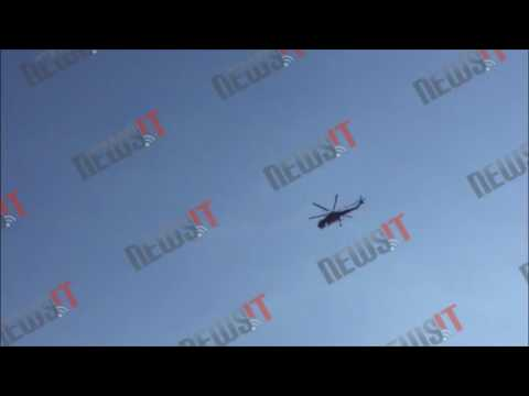 Video - Σε ύφεση η φωτιά στη Χίο - Στην Αθήνα με σοβαρά εγκαύματα οι τρεις τραυματίες