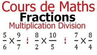 Maths 6ème - Fractions multiplication et division Exercice 3