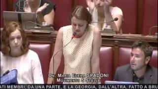 Maria Edera Spadoni (M5S): Al Senato poco fa hanno salvato dall'arresto il senatore Azzollini (Ncd)