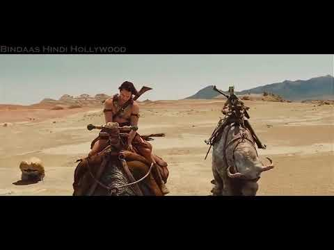 John Carter in Hindi : Carter, Dejah and Sola on way to find the sacred river & the Temple