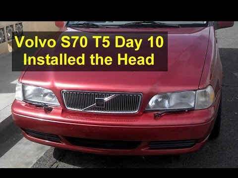 Volvo S70 T5 restoration day 10, finish head, clean block, install head – Auto Repair Series