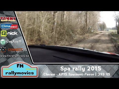 Spa rally 2015 | ONBOARD | Cherain - KP15 Sparmont-Fairon (DS3 R5) [HD]