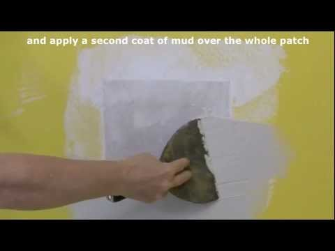plaster repair - Demonstration how to repair holes in drywall or plaster walls. Check http://www.do-it-yourself-help.com/repair_large_holes2.html for more.