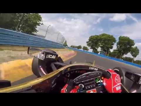 Näin hurjalta näyttää ajaminen Indycar-kuljettajan näkökulmasta