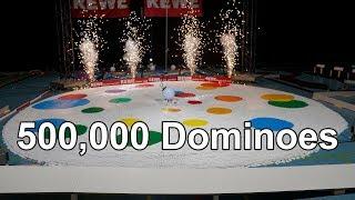 Video Domino World Record Show - 500,000 Dominoes - World of Art MP3, 3GP, MP4, WEBM, AVI, FLV Mei 2018