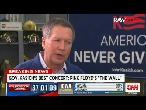 WATCH: Ohio Governor John Kasich Promises to Reunite Pink Floyd