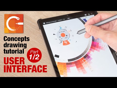 How to draw with Concepts app: User Interface (part 1/2)