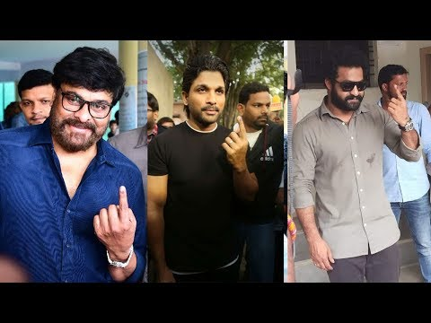 Telangana Elections 2018 LIVE | Tollywood Celebrities Cast Their Votes | #TelanganaElections2018