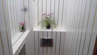Отделка туалета пластиковыми панелями