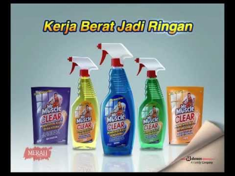 """Video of TVC Mr. Muscle """"Glass Cleaner"""""""
