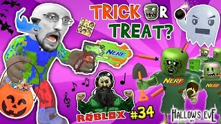 ♬ ROBLOX HALLOWEEN!! ♫ NERF TOYS vs. ZOMBIES! 🍭 FGTEEV TRICK OR TREAT GAMES BATTLE 🍬 I QUIT #34