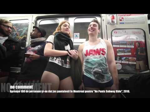 No Pants Subway Ride in Montreal