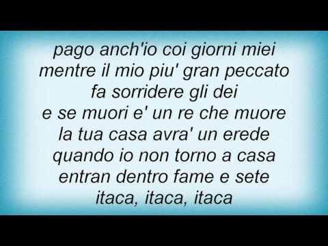 , title : 'Lucio Dalla - Itaca Lyrics'