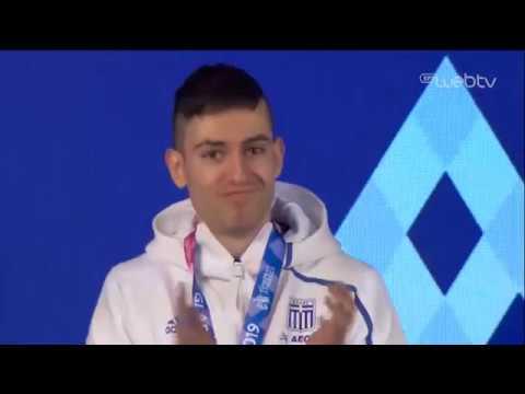 Χρυσό μετάλλιο στο άλμα εις μήκος για τον Μίλτο Τεντόγλου | 3/3/2019 | ΕΡΤ