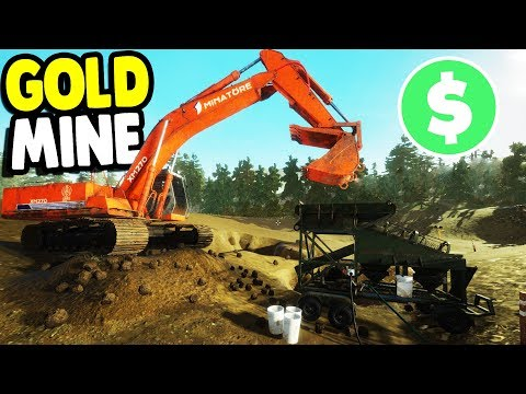 $1,000,000 GOLD MINE ASSEMBLY & OPERATION | Gold Rush: The Game Gameplay