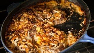 Carne de res gratinada