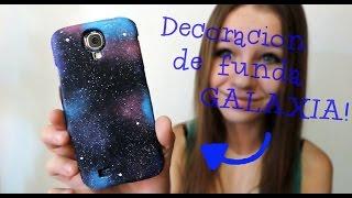DIY - Decoración de funda galáctica - Galaxia - YouTube