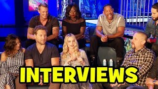 Video SUICIDE SQUAD Cast Interviews - Margot Robbie, Cara Delevingne, Jared Leto, Will Smith MP3, 3GP, MP4, WEBM, AVI, FLV Juni 2018