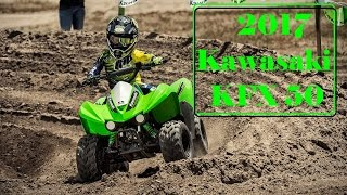 4. New 2017 Kawasaki KFX 50 : The 49.5cc 4-Stroke Engine and Automatic Transmission