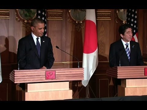 Conference - President Obama and Prime Minister Abe answer questions from the press following a bilateral meeting in Tokyo. April 24, 2014.