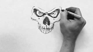 Video Skull Speed Drawing (dirtdesignsgraphic.com) MP3, 3GP, MP4, WEBM, AVI, FLV Juli 2018