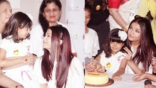 Aishwarya Rai Bachchan Celebrating Her Late Father Krishnaraj Rai's Birthday at Shushrusha Hospital