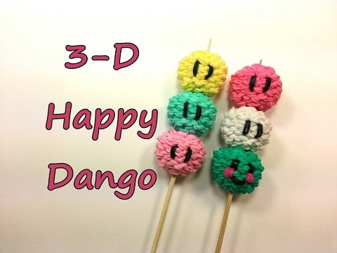 3-D Happy Dango Tutorial by feelinspiffy (Rainbow Loom)