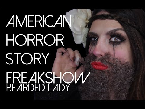 American Horror Story Freakshow Bearded Lady Halloween Makeup Tutorial 2014