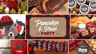 Holiday Brunch Ideas | Pancakes and Plaid Party by The Domestic Geek