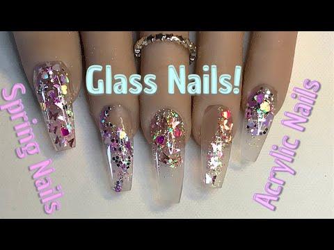 ???? Spring Glass Nails   Acrylic Nails  Nail Sugar