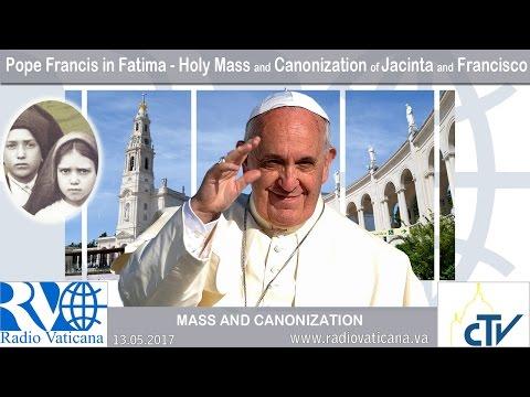 Celebra Francisco canonización de Jacinta y Francisco