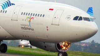 AIRBUS A330 GARUDA INDONESIA - LIHAT LEBIH DEKAT (VIDEO PESAWAT INDONESIA TERBARU 2016)