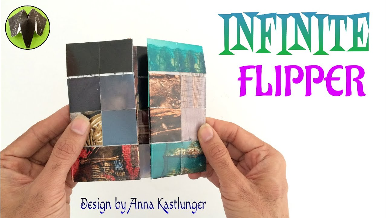 Action fun toys paperfolds origami arts and crafts origami tutorial to make infinite flipper never ending flipper design by anna kastlunger jeuxipadfo Choice Image