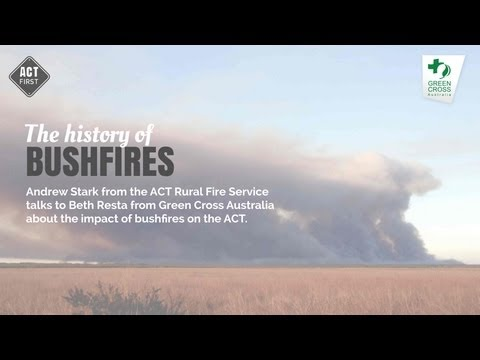 The history of bushfires