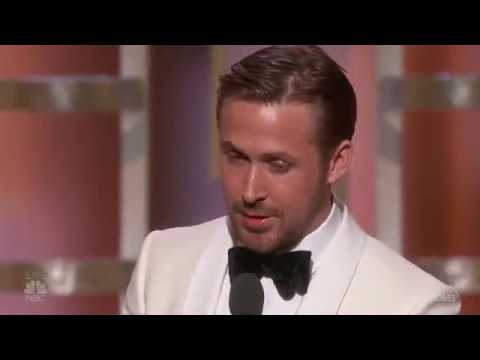 Ryan Gosling Wins Best Actor at the 2017 Golden Globes (видео)