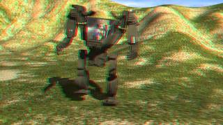 Sexy girl in Avatar AMP suit animation in 3d     Use red blue glasses
