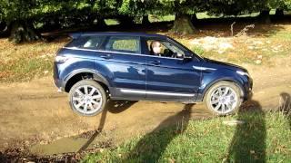 EXCLUSIVE Range Rover Evoque Test 3 Wheels At Rockingham Castle