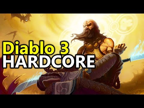 ♥ My First Hardcore Monk (Diablo 3 Gameplay)