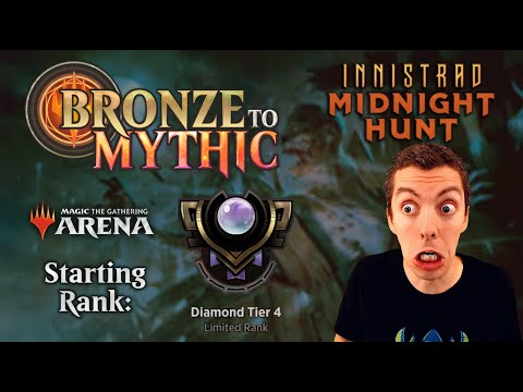 💎 MTG Arena: Bronze To Mythic: Episode 14 - Starting Rank: Diamond 4 (Innistrad Midnight Hunt Draft)