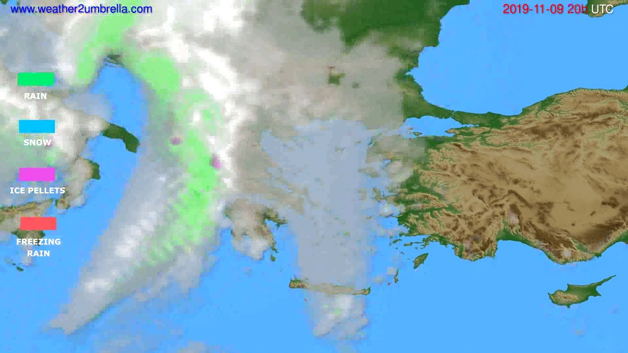 Precipitation forecast Greece // modelrun: 12h UTC 2019-11-08