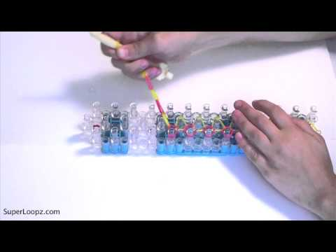 Rainbow Loom Basic Bracelet Tutorial