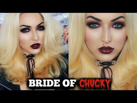 HALLOWEEN BRIDE OF CHUCKY MAKEUP TUTORIAL + COSTUME