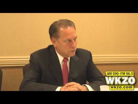 Michigan State Head Basketball coach Tom Izzo speaks about social media and it&#39;s impact on his players as well as the future of the Spartan basketball team on Monday September 24th, 2012 before the Big Brothers Big Sisters Annual Benefit dinner in Kalamazoo, Michigan.